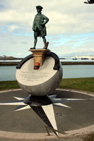 Captain Cook's statue, Gisborne, NZ.