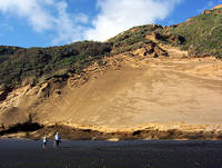 Sand Cliffs Kariotahi Beach