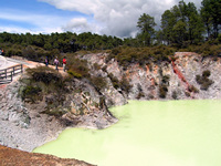 The Devil's Bath in Rotorua