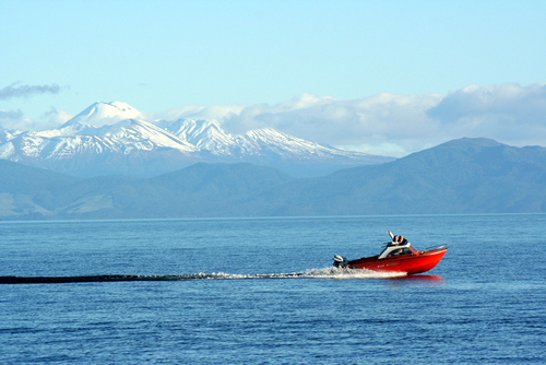 Jetboating on Lake Taupo